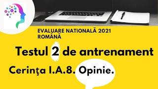 Testul 2 de antrenament. Opinie. ✍ Evaluare nationala 2021 romana