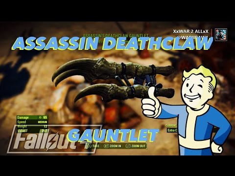 how to make deathclaw gauntlet fallout 4