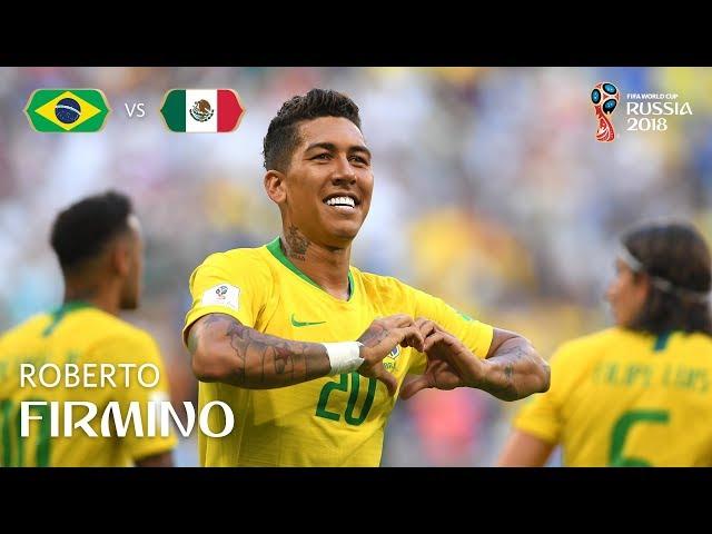 ROBERTO FIRMINO Goal  - Brazil v Mexico - MATCH 53
