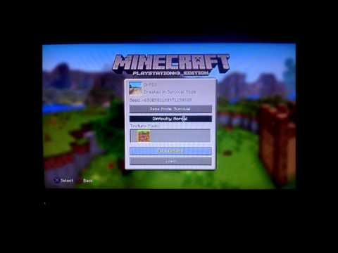 Ps3 Minecraft Invitation Youtube
