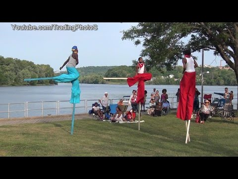 Stilt Walkers at Middletown Connecticut caribbean carnival 2014