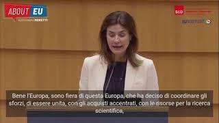 """Intervento in Plenaria dell'europarlamentare Alessandra Moretti su """"Strategia globale dell'UE in materia di vaccinazioni contro la COVID-19"""""""