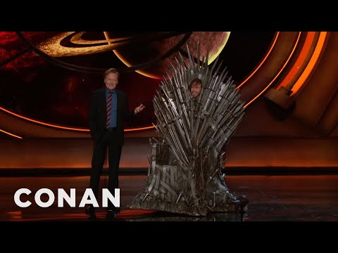 Thumbnail: T.J. Miller Cosplays As The Iron Throne - CONAN on TBS
