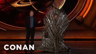 T.J. Miller Cosplays As The Iron Throne  - CONAN on TBS