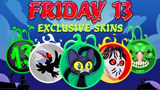 Agarioolo Friday The 13th New Exclusive Skin Solo Epic Destroying Team! (Agar.io Best Moments)