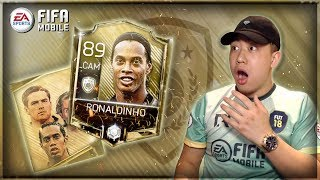 ICONS ARE HERE!! FIFA MOBILE 18 ICON BUNDLE OPENING!! 89 OVR RONALDINOHO!!