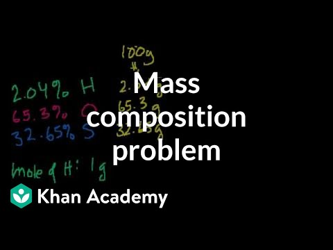 Another mass composition problem