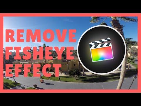 How To Fix GoPro Fisheye Effect - FCPX Tutorial