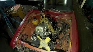 Как снять двигатель? Разборка  МОСКВИЧ 2140.