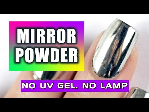 LET'S TRY MIRROR POWDER NAILS DESIGN