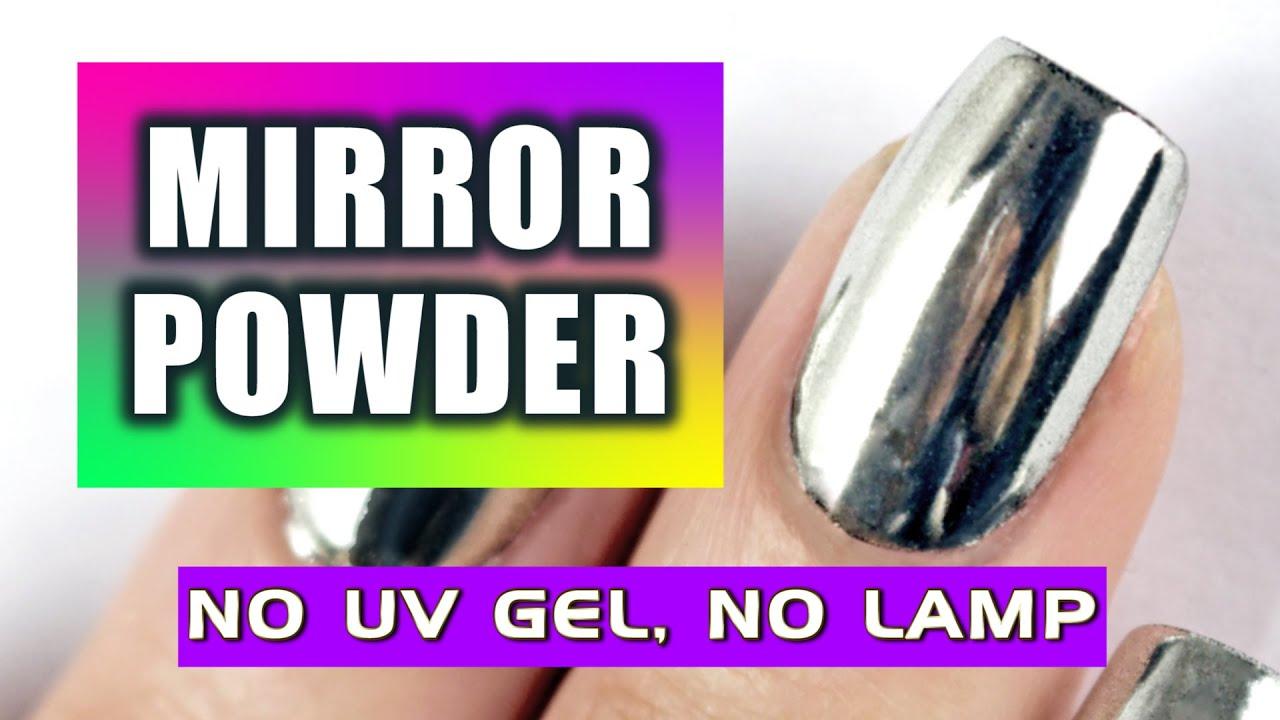 NEW: LET'S TRY MIRROR POWDER NAILS! NO UV GEL and NO LAMP ...