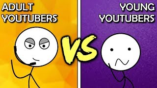 Kid YouTubers VS Adult YouTubers