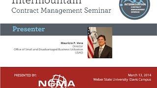 Great Salt Lake NCMA/ICMS Seminar Presents: Mauricio P. Vera