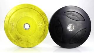 Detonate PowerColor Rubber Bumper Weight Plates Gopher Sport