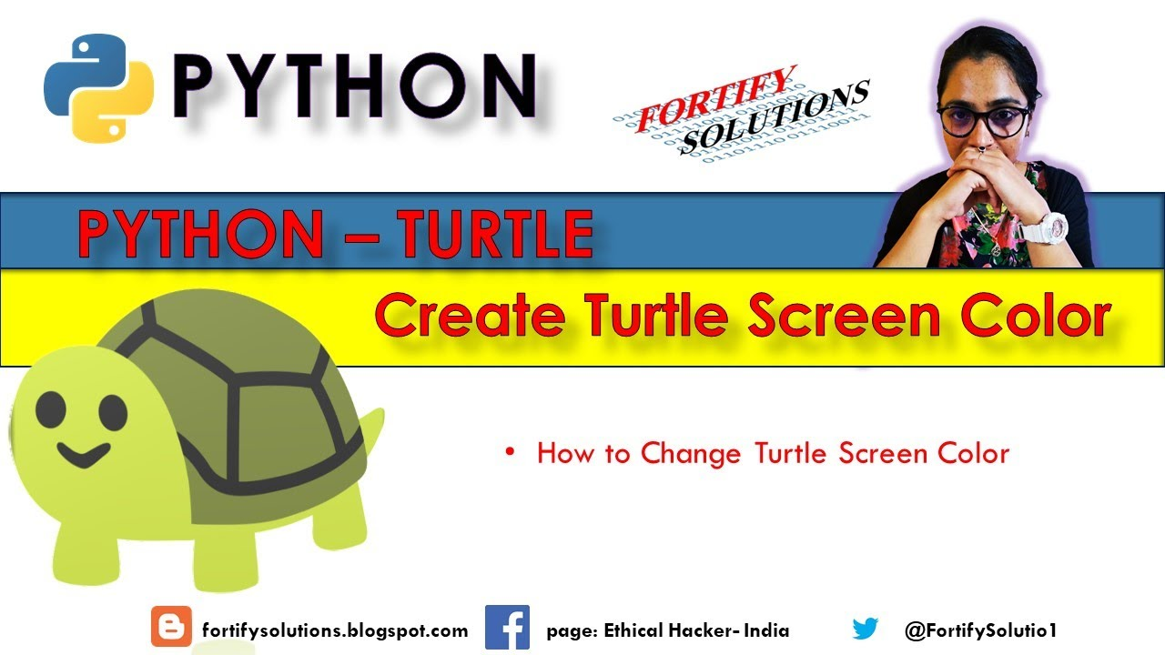 How To Change The Python Turtle Window Background Color