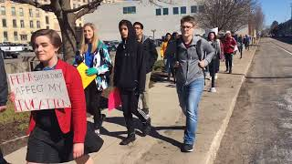 Students walkout of school to advocate for gun control thumbnail