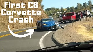 FIRST 2020 Corvette C8 Crash on Public Roads! *Mid Engine Corvette*