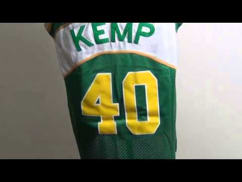 885f5d20e Cheap Seattle SuperSonics  40 Shawn Kemp Green Soul Swingman NBA Jerseys  Review