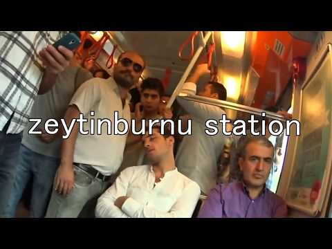 Zeytinburnu station transfer to Istanbul city from airportゼイティンブルヌでの乗換
