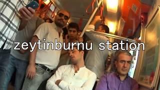 Zeytinburnu station transfer to Istanbul city from airportゼイティンブルヌでの乗換
