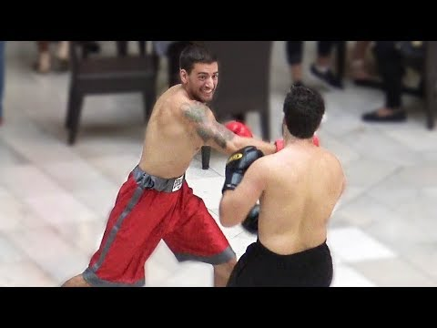 BOXING IN THE MALL – Floyd Mayweather vs Conor McGreggor Fight Public Prank 2017