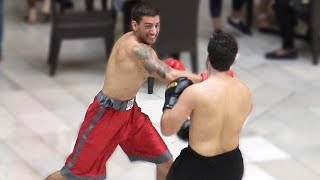 BOXING IN THE MALL - Floyd Mayweather vs Conor McGreggor Fight Public Prank 2017