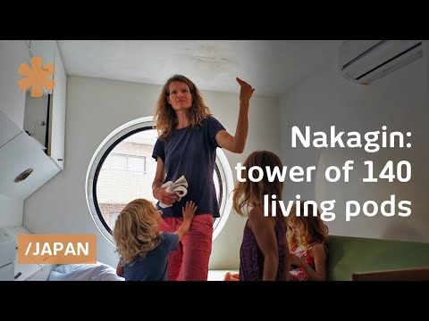 Nakagin: 140 plug n' play capsules float in metabolist tower