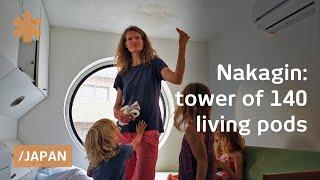 Nakagin: 140 Plug N' Play Capsules Float In Metabolist Tower