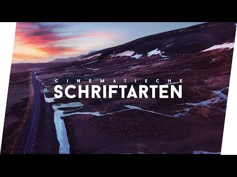 Die BESTEN cinematischen SCHRIFTARTEN (Fonts) | Jonah Plank