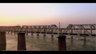 INDIAN RAILWAYS Dawn crossing of the holy Narmada river on-board Gondwana Express