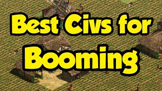 Best Booming Civs in AoE2