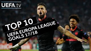 Top ten goals of the UEFA Europa League season