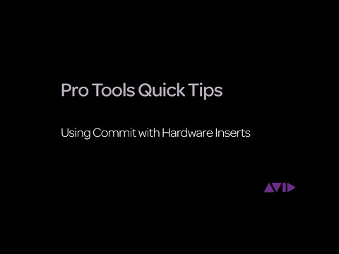 Pro Tools Quick Tips – Using Commit with Hardware Inserts