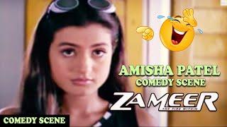 Amisha Patel Making Fun of Ajay Devgan In Class Room Comedy Scene Zameer The Fire Within