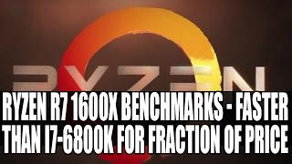 AMD Ryzen R5 1600X CPU-Z Benchmarks | Faster Than Intel's 6800K