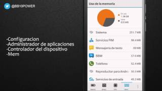 Reparar celular lento, recuperar fluidez de BlackBerry 10 sin aplicaciones