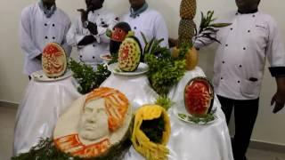 Indian culinary institute, Tirupati .Carving & plate presentation. Carving Chef E.Gajendan .
