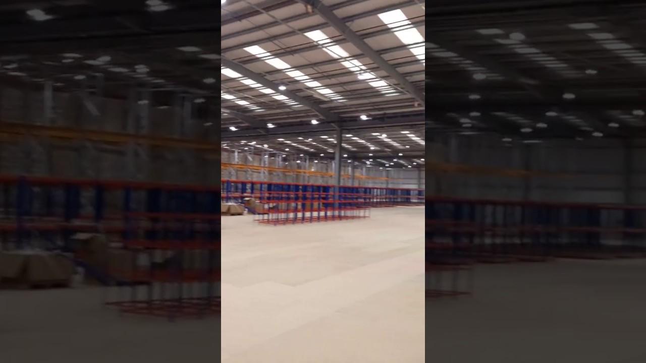 4PX Distribution Centre LED Lighting Upgrade by LEDUS UK in Dunstable, UK  [part 1]
