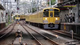 ニューレッドアロークラシック旅客輸送最終列車西武新宿発臨時列車西武新宿線中井駅の風景20210605
