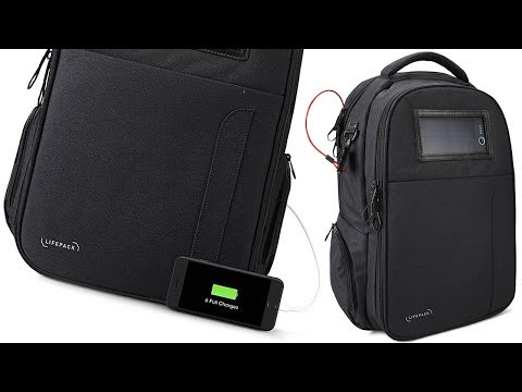 Anti-Theft Backpack w/ Solar Power Bank, Speaker & Much MORE!