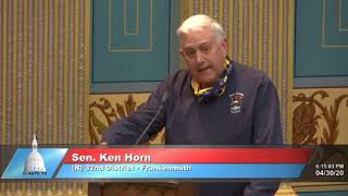 Sen. Horn speaks on Senate Bill 858 before the Michigan Senate