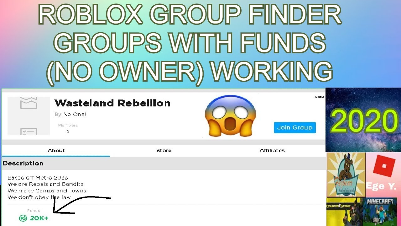 Roblox Find Groups With Funds No Owner No Virus Free Group