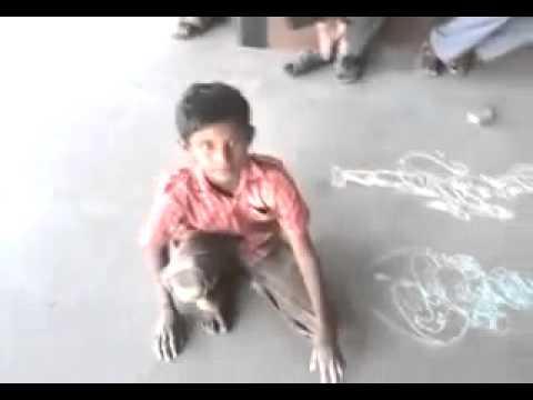 Greatest street talent I've ever seen. Indian child, street artist.
