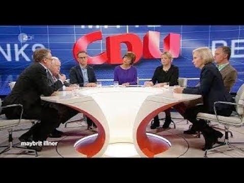 Maybrit Illner vom 31 10 2019 Zwischen Merkel & Merz–geht die CDU in der Mitte unter?