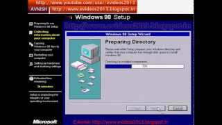 Installation of windows 98 in Hindi