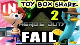 Phineas & Perry Battle In Heros Duty 2 (face Cam) - Disney Infinity Toy Box Share Fail