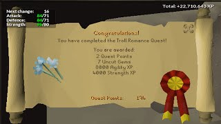 Old School Runescape Lets Play -[Episode 74]- Troll Romance Quest Guide