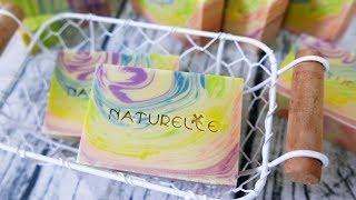 彩虹渲母乳皂DIY - rainbow swirl handmade soap tutorial  - 手工皂