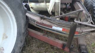 Dion 1224 Forage harvestor broken tongue accident