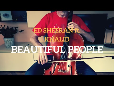 Ed Sheeran (feat. Khalid) - Beautiful people for cello and piano (COVER)